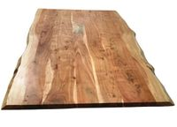 SIT Möbel Tischplatte 160 x 85 cm | Plattenstärke 36 mm | Akazie-Holz massiv | B 160 x T 85 x H 3,6 cm | natur | 07173-01 | Serie TOPS & TABLES