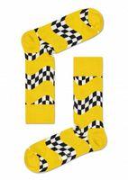 Happy Socks Race Socken, Farbe:Gelb, Größe:36-40