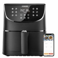 Cosori Smart 5,5-Liter Heißluftfritteuse mit Spießregalsatz