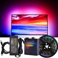 5M USB Hintergrundbeleuchtung 60 LEDs Lichtleiste Bar PC TV Raum Hintergrundbeleuchtung Dekor