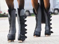 BUSSE Transport-Gamaschen TRAVEL PRO, grau (schwarz), Pony