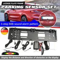 Auto Kennzeichenhalter Nummernschildhalter mit 3 Parksensoren Einparkhilfe Kit