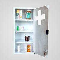 30ⅹ30ⅹ12 cm Natsen Edelstahl Medizinschrank Arzneischrank Medikamentenschrank Erste Hilfe Schrank Silber 2 F/ächer
