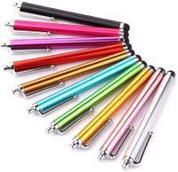 10 Stücke Handy-Stift Metall Stylus Touch-Stift Regenbogen Farben- kapazitiver Schreibkopf/Schreibkopf Feder für Touch Screen