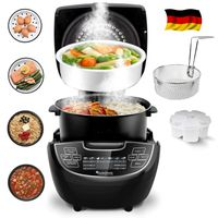Elektrischer Multikocher 5 L, Dampfgarer, Reiskocher, Slow Cooker, Timer