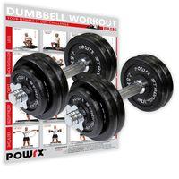 Kurzhantel Gusseisen 2er Set inkl. Workout I Hanteln Varianten 20, 30, 35, 50kg