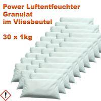 30 x 1kg Luftentfeuchter Granulat im Vliesbeutel  Entfeuchter 1 Raumentfeuchter 1000g