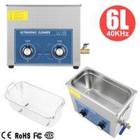 6L Ultrasonic Cleaner Ultraschallreinigungsgerät Reinigungsgerät Ultraschall Reiniger Ultraschallbad Edelstahl + Korb DHL