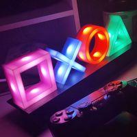 PlayStation Icons Nachtlicht Licht mit 3 Lichtmodi - Musikreaktive Spielraumbeleuchtung für PS4, PS5