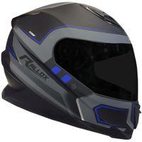 Motorradschutzhelm,Integralhelm mit Unisex Doppellinse Erwachsenen Vollgesichts Motorradhelm schwarz L