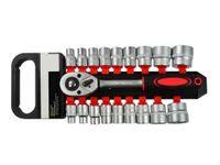 "18 tlg Steckschlüsselsatz 8-32mm 1/2"" Ratschenschlüssel Knarre CrV Ratsche G107"