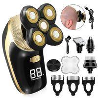 NEUFU LED 4D Rotary Electric Shaver Wiederaufladbare Glatze Rasierer Bartschneider