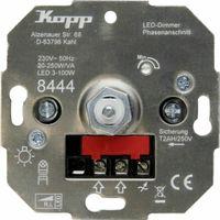 Kopp LED Dimmer mit Druck-/Wechselschalter - 8444 - Phasenanschnitt - LED 3-100W