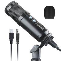 USB-Mikrofon PC Kondensatormikrofon mit Ständer für Studio Laptop Standmikrofon Desktop USB Mikrofonstand