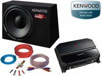 Kenwood 1700 Watt Basspaket Subwoofer Verstärker Set Kabelset Komplettset Aktiv