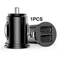 Auto KFZ Ladegerät Dual USB Ladegerät KFZ Ladeadapter Zigarettenanzünder(schwarz)
