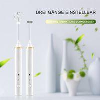 USB wiederaufladbare Milchschäumer aus Edelstahl, leicht zu waschende elektrische Milchschäumer aus Eiweiß