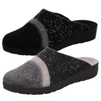 Rohde Damen Pantoffeln Hausschuhe Roma 2326, Größe:40 EU, Farbe:Grau