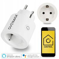 Steckdose Overmax Flow Control Socket Smart Home funktioniert mit Alexa, Google