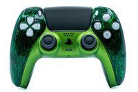Sony PS5 / PlayStation 5 DualSense Wireless Controller - Custom Design Grün Schwarz