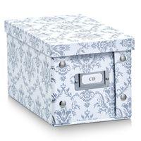 "Zeller CD-Box ""Vintage"", Pappe, weiß - 16,5x28x15; 17970"