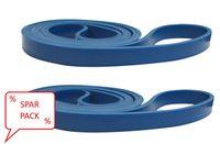 Fitnessband Gymnastikband aus Latex dehnbares Widerstandsband 208cm Schlaufe, als Spar-Pack erhältlich:2 x leicht