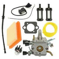 Vergaserfilter + Zündspule Luftfilter für STIHL FS120 FS200 FS250 FS300