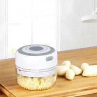 250ML Elektro USB Knoblauch Chopper Babynahrungsergänzungsmaschine Mini Zum Zerkleinern von Obst und Gemüse Knoblauch Leicht zu reinigendes Küchengerät-Weiß