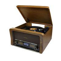 Soundmaster NR50 Nostalgie Stereo Musikcenter mit CD- u. Plattenspieler, DAB/UKW