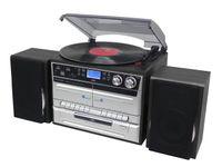 soundmaster stereo HiFi-Musikcenter (schwarz-silber)