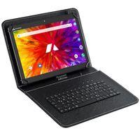 """Acepad A130T Tablet 10"""" mit Tastatur , 25,6 cm (10.1 Zoll), 4G, 64GB, Octa Core, 2GB Ram, Android 9.0 Pie, IPS HD,  WIFI/WLAN/Bluetooth, GPS, USB/SD (Aluminium-Schwarz mit Tastaturtasche)"""