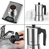 BEEM Espressokocher Edelstahl Induktion 4 Tassen Moka Mokka Maker Kaffee Kocher