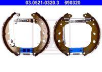 ATE Bremsensatz Trommelbremse für FIAT DOBLO Cargo 223 DOBLO 119