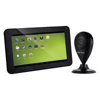 Jay Tech Tablet mit Überwachungskamera, Set, Farbe: Schwarz