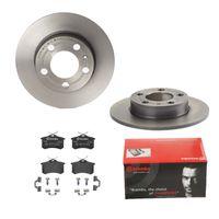 Brembo | 2 Bremsscheiben COATED DISC LINE Voll Ø230 Mm + Bremsbeläge Voll (IJDTIDI470) passend für VW, Seat, Skoda, Audi