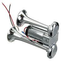 12 V 600 DB Autohupe Elektrische Hupe Doppelrohr Metall Siamesisch Elektrisches Pumpenhorn Mit Relais