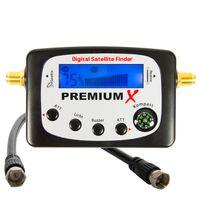 PremiumX PXF-22 Digital Sat Finder LCD Display Tonsignal Kompass Satelliten Satellitenfinder Satfinder FullHD HDTV 4K