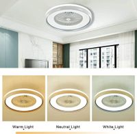 """23"""" Deckenventilator mit Dimmbar Beleuchtung + Fernbedienung für Wohnzimmer Schlafzimmer Esszimmer 60W 220V"""