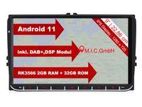 """M.I.C. AV9-lite Android 11 Autoradio mit navi Ersatz für VW Golf t5 touran Passat RNS RCD Skoda SEAT: DSP DAB Plus Bluetooth 5.0 WiFi 2 din 9"""" IPS Bildschirm 2G+32G USB Auto zubehör europakarte"""