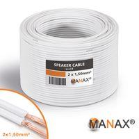 Lautsprecherkabel Audio Kabel Boxenkabel 100% CCA 20m 2x1,5mm² weiß