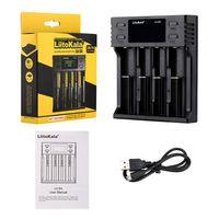 Liitokala LII-S4 Batterieladegerät LCD 4-Fach für 18650 26650 21700 18350 AA AA Lithium-NiMH-Batterie Auto-Polaritätsdetektor-Ladegerät