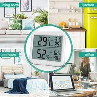 Hygrometer Innen, Mini Digitales Thermometer Innen Luftfeuchtigkeitsmessgerät Hydrometer Feuchtigkeit Digital mit Hhen Genauigkeit, Thermo Hygrometer für Babyraum, Wohnzimmer, Büro(Weiß)