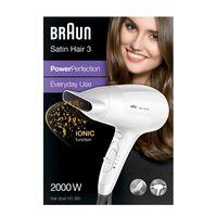 Braun Satin Hair 3 PowerPerfection Haartrockner HD380 mit Ionentechnologie