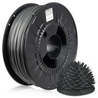 MIDORI® 3D Drucker 1,75mm PETG Filament 1kg Spule Rolle Premium Dunkelgrau Metallic