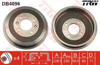 Trw Bremstrommel Hinterachse DB4096