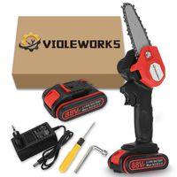 AUDEW 1080W Akku Kettensäge 4 Zoll Motorkettensäge Motorsäge Einhandsäge mit 1 Batterie