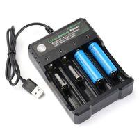 4 Slots LCD Akku Ladegerät für 18650 Lithium Akkus Batterie USB Smart Charger DHL