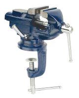BRÜDER MANNESMANN Klemm-Schraubstock Backenbreite: 50 mm blau
