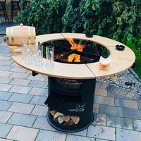 Rundtisch Umrandung für 80cm Feuerplatte Grillplatte Plancha Feuertonne Grill #27