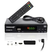 PremiumX HD 520SE FTA Digital SAT Receiver DVB-S2 HDMI SCART USB FullHD